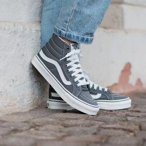 Vans Shoes - NWT VANS SK8-HI Slim Castlerock Blanc Grey Kid's